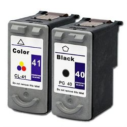 Canon Pixma iP1300 PG40 & CL41 Ink Cartridges