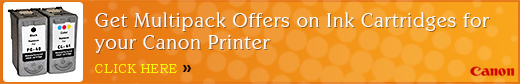 Get Multipack Offers on Ink Cartridges for your Canon Printer