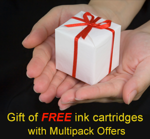 Gift of FREE ink-cartridges with Multipack Offers