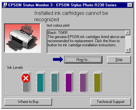 Installed Ink Cartridges can not be Recognized by Epson Printer