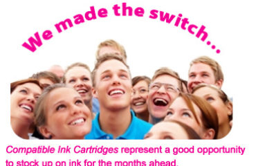 Choose Compatible Ink Cartridges from all popular brands with multipack offers