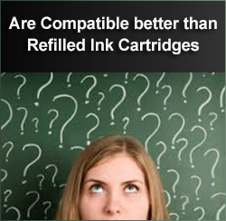 Are compatibles better than refilled ink cartridges in Galway?