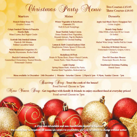 Save Money on Printing Christmas Menus for Restaurant using Compatible Ink Cartridges