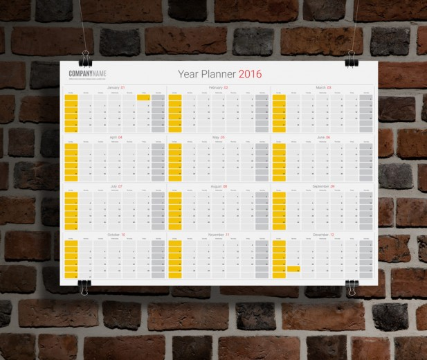 Make your own personalised wall planner with compatible ink cartridges