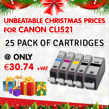 Unbeatable Christmas Prices for Compatible Canon CLI 521 Ink Cartridges