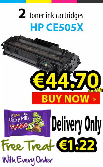 Grab 2 packs of HP CE505X black toners under €45