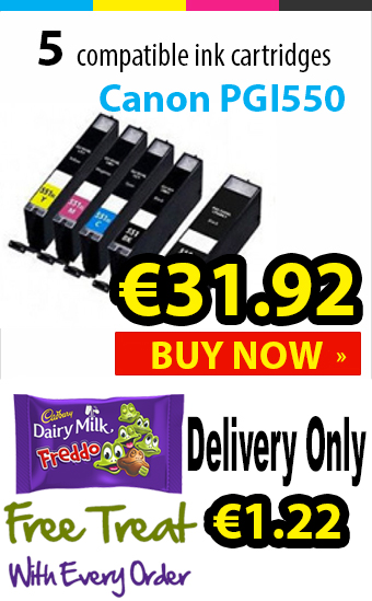 Canon PGI550 Compatible Ink Cartridges