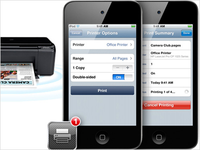 Print directly from iPhone with AirPrint app