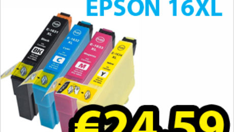 Mega 20 pack deal on compatible Epson t1631 16XL ink cartridges