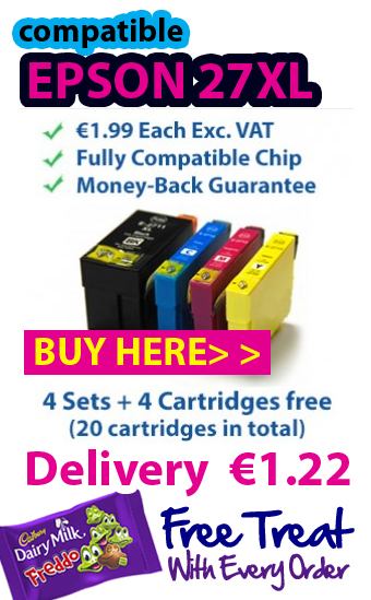 Grab you free Epson 27XL ink cartridges with all multipack orders