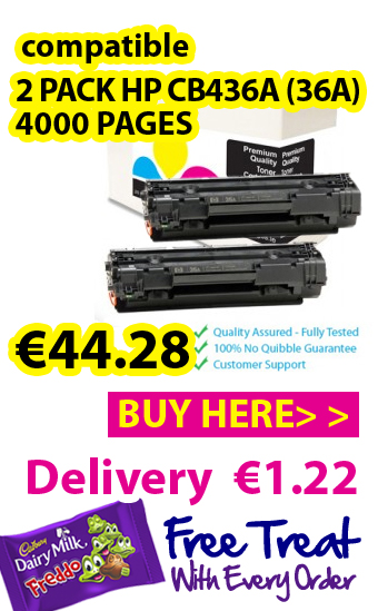 Compatible HP CB436A (36A) toner cartridge twin pack, 4000 pages €44.28