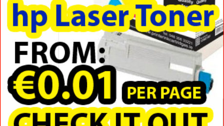 Check compatible HP laser toner to get €0.01 per page printing cost