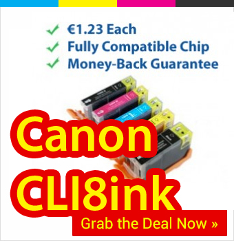 Canon CLI8 ink cartridges now €1 each as premium long lasting compatibles