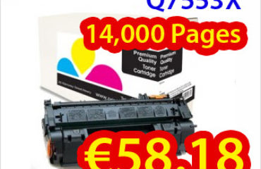 Buy compatible HP laser toner Q7553X cartridge just at €58.18