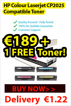 Get HP Colour Laserjet CP2025 toner cartridges multipack at only €189