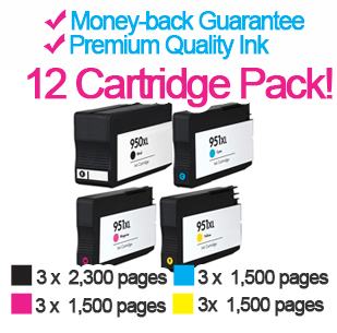 hp officejet hp 950xl multipack 12 3 cartridges free inkjet cartridges price. Black Bedroom Furniture Sets. Home Design Ideas